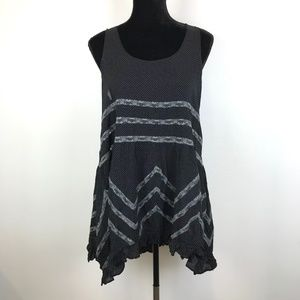 Intimately By Free People Black Trapeze Dress *